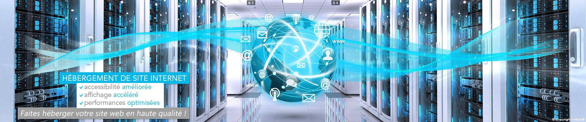 Hébergement Internet : nom de domaine, hébergement mutualisé, serveur dédié.